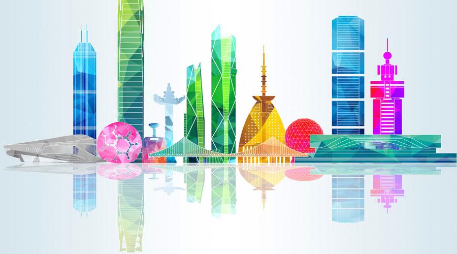 中国城市代表图